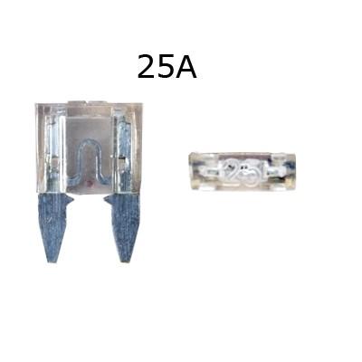 Biztosíték késes mini 25A darabos,fehér
