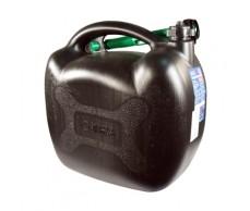 Üzemanyag kanna 20L műanyag fekete +kiöntő Alpin61057