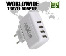 Adapter és USB töltő 230V-4xUSB aljzat NeXuS 55042