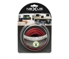 Hangszórókábel piros-fekete TP 2x1,0mm 5m NeXuS20024x5