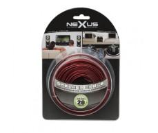 Hangszórókábel piros-fekete TP2x0,5mm 20m NeXuS20026x20