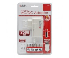 Adapter 230V 3-7V DC 2500mA Delight 55021