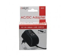 Adapter 230V 12V DC 300mA Delight 55031
