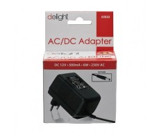 Adapter 230V 12V DC 500mA Delight 55032