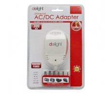 Adapter 230V 3-12V DC 300mA Delight 55033